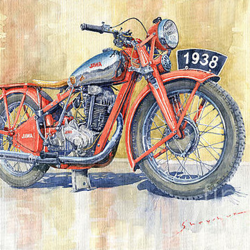 Motorcycles Paintings Collection