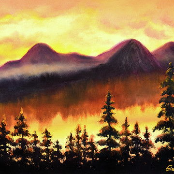 Mountain Landscapes and Trees