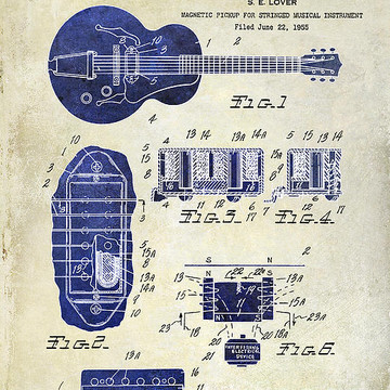 Musical Instrument Patent Art Collection