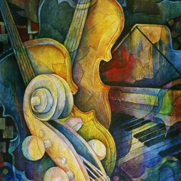 Musical Series - Paintings of Musical Instruments Collection