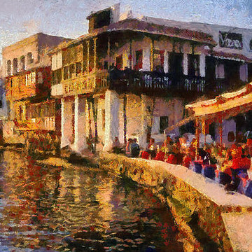 Mykonos island paintings Collection