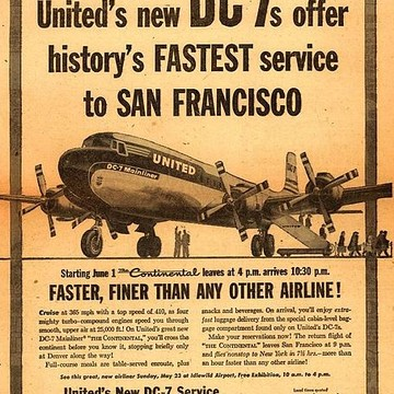 Nostalgic Aviation Advertising Collection