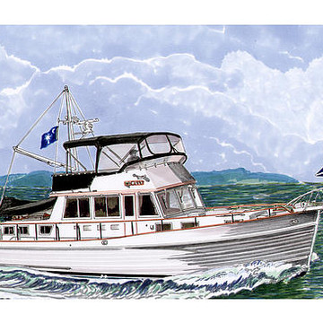 Note Card Yachting Nautical Collection