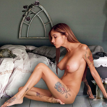 Nude Models Posed as Museum Statues Collection