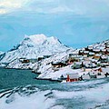 Nuuk capital of Greenland Digital Paintings Collection