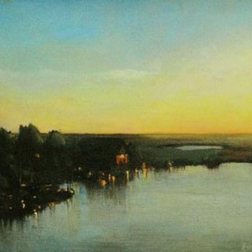 Oil Paintings - sunset and sunrise Collection