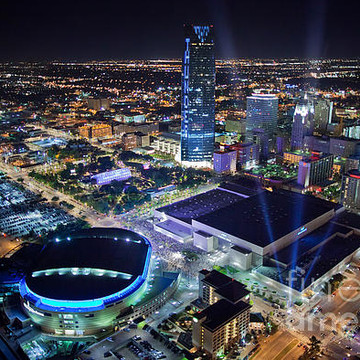Oklahoma City Aerial Skyline Photography Collection