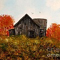 Old Barns and farm items in acrylic and photos Collection