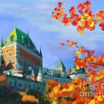 Old Quebec - Hand photopainting on canvas Collection