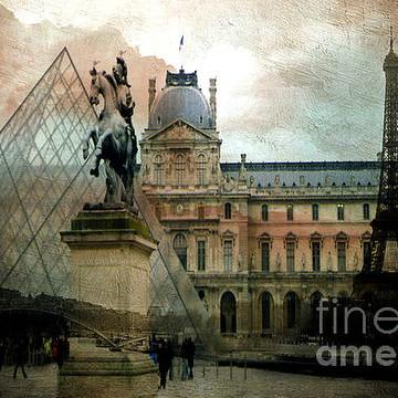 Paris Watercolor Paintings - Digital Montage Photos Collection
