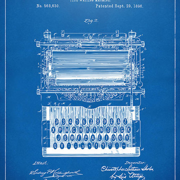 Patent and Blueprint Fine Artwork Collection