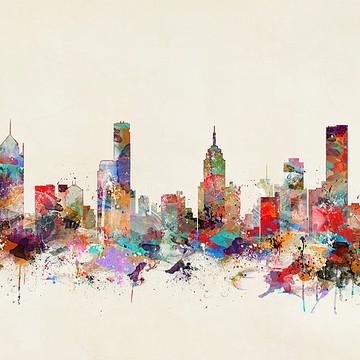 Pop Art Skylines Collection