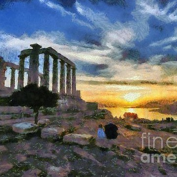 Poseidon temple paintings Collection