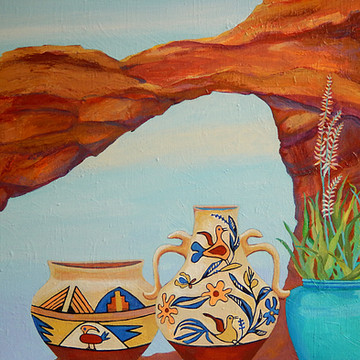 Pottery With A View Acrylic Painting Series Collection