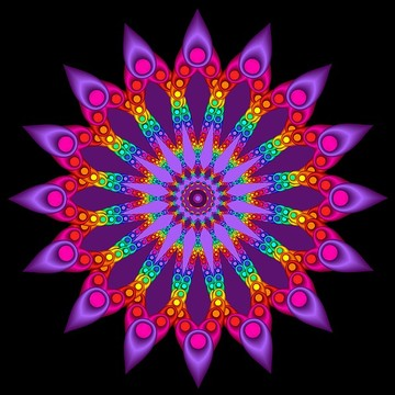 Rainbow Colored Fractals Collection