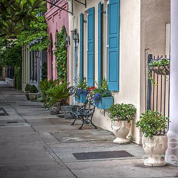 Rainbow Row in Charleston SC