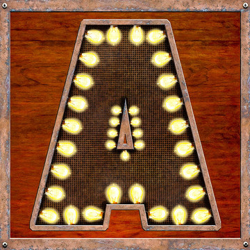 Retro Marquee Lighted Letter Series Collection