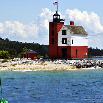 Round Island Lighthouse Michigan Collection