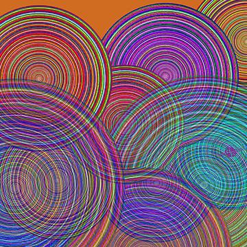 Rubino Family Circles Abstract Collection