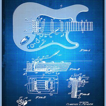Rubino Patent Blueprint Drawings Collection