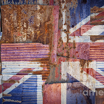 Rusty corrugated iron flags Collection