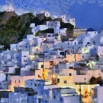 Serifos island paintings Collection