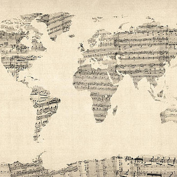 Sheet Music Maps Collection