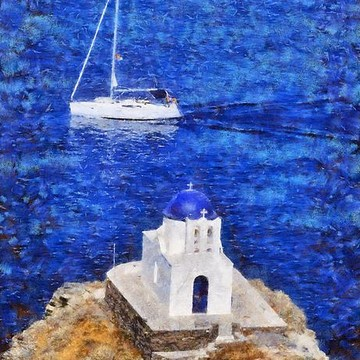 Sifnos island paintings Collection