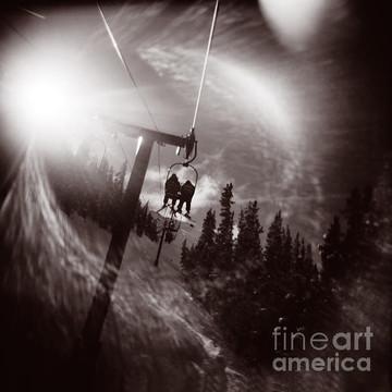 Vintage Ski Snow Mountain Photography Art