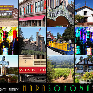 Sonoma And Napa County California Wine Country Art and Photography Collection