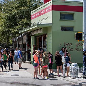 South Congress Avenue SoCo is Austins hip eclectic fun art district
