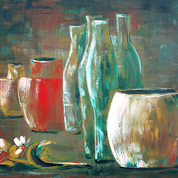 Still Life Paintings and Prints on Canvas Paper and Metal