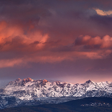 Sunset at the mountains Collection