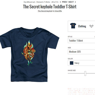 T-Shirts. Sample images at different Apparel Collection