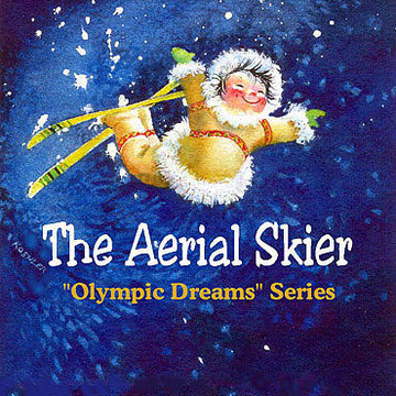 The Aerial Skier - Kids Book Illustrations Collection