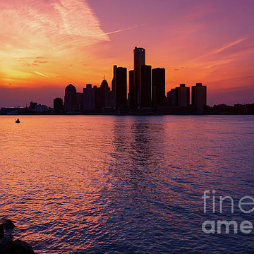 The Detroit River and River Front from Windsor Ontario. Collection