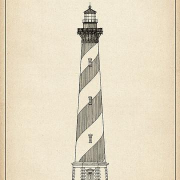 US Lighthouses Blueprints