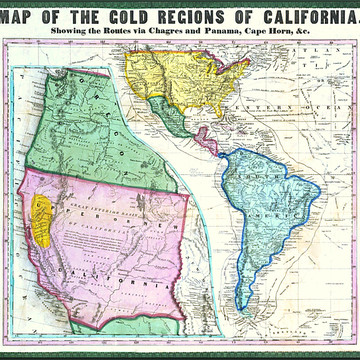 Vintage California North American Continent and Pacific Ocean Collection