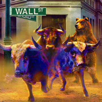 Wall Street --Bull and Bear Markets Collection