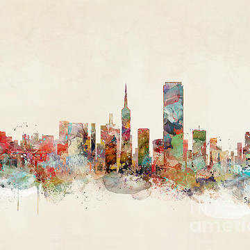 Watercolor City Skylines Collection