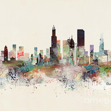 Watercolor Pop City Skylines Collection