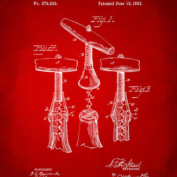 Wine Beer Alcohol and Drinks Patent Art Collection