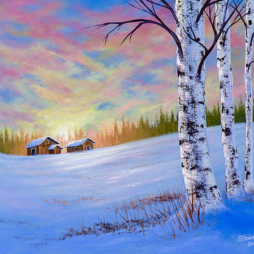 Winter Scene Paintings Collection
