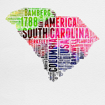 Word Cloud State Maps Collection