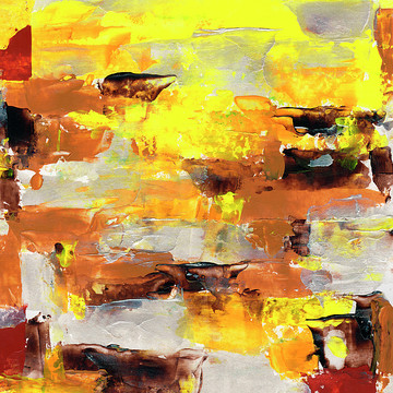 Yellow Abstract Art Collection