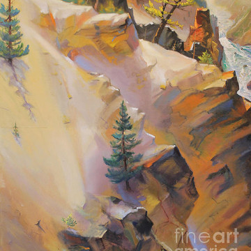 Yellowstone Canyon Mural - Tolpo Point 1970s