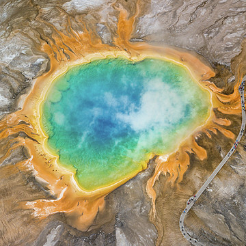 Yellowstone National Park - Grand Prismatic Spring - Wyoming Collection