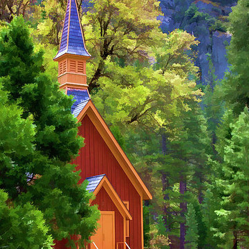 Yosemite National Park Color Paint Collection