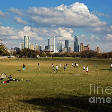 Zilker Park Austins popular lush green park in the heart of downtown