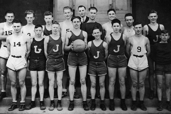 Boys high school basketball team 1935 black t shirt for for High school basketball t shirts